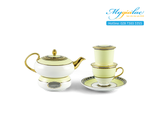 Bộ pha trà nghệ thuật mới  Anna Hoàng Kim 0.47L