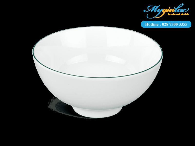 Chén Cơm Minh Long 11.5cm Jasmine Chỉ Xanh Lá