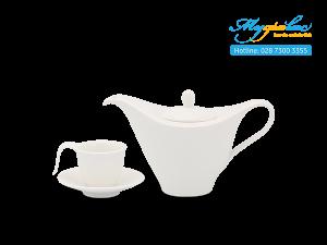 Bộ cà phê 0.45L Anh Vũ - Trắng Ngà 1