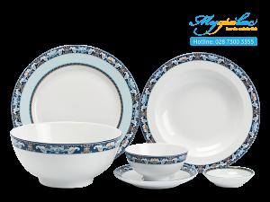 Bộ đồ ăn Jasmine Phước Lộc Thọ 36 sản phẩm