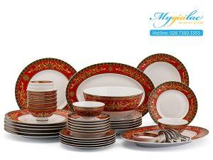 Bộ đồ ăn Camellia Hoàng Cung Quốc Sắc 48 sản phẩm