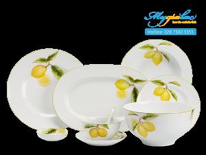 Bộ đồ ăn Camellia Quả Chanh 49 sản phẩm