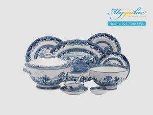 Bộ đồ ăn Hoàng Cung Hồn Việt 49 sản phẩm