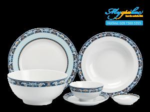 Bộ đồ ăn Jasmine Phước Lộc Thọ 24 sản phẩm