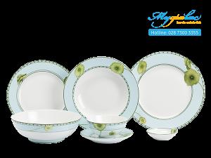 Bộ đồ ăn Jasmine Tích Tuyết Thảo 24 sản phẩm