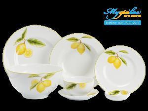 Bộ đồ ăn Camellia Quả Chanh 25 sản phẩm