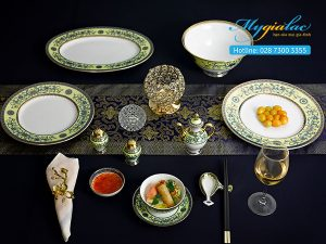 Bộ đồ ăn Hoàng Cung Hoàng Liên 40 sản phẩm