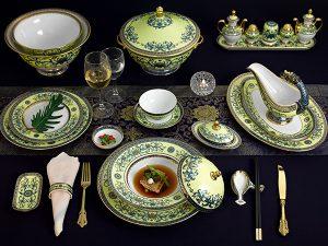 Bộ đồ ăn Hoàng Cung Hoàng Liên 82 sản phẩm