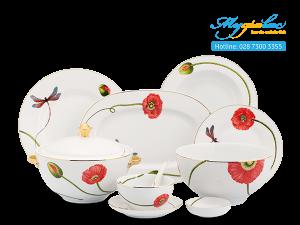Bộ đồ ăn Camellia Kết Duyên 45 sản phẩm
