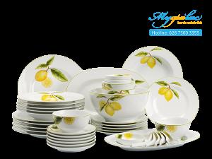 Bộ đồ ăn Camellia Quả Chanh 45 sản phẩm
