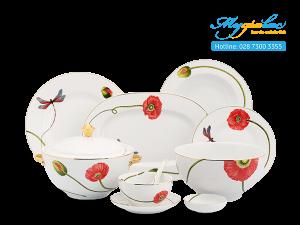 Bộ đồ ăn Camellia Kết Duyên 46 sản phẩm