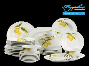Bộ đồ ăn Camellia Quả Chanh 46 sản phẩm