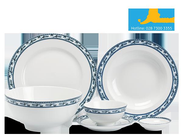 Bộ đồ ăn Jasmine Chim Lạc 24 sản phẩm