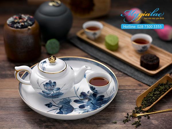 Bộ trà Jasmine Sen Vàng 0.35L 1