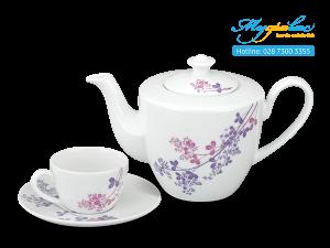 Bộ trà Daisy Cỏ Tím 0.65L