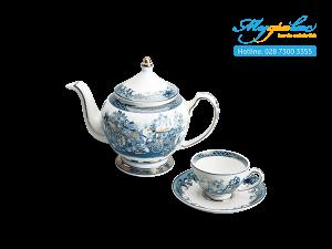 Bộ trà Hoàng Cung Hồn Quê Vàng 0.8L