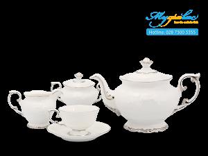 Bộ trà Đài Các Chỉ Bạch Kim 1.3L