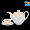 Bộ trà (Bộ 6 tách/dĩa) Camellia Hương Biển kem 1.1L -1