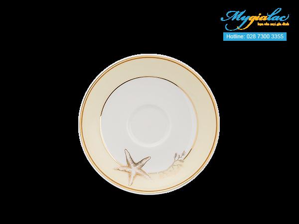 Bộ trà (Bộ 6 tách/dĩa) Camellia Hương Biển kem 1.1L -4