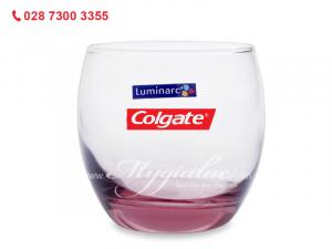 Ly Thủy Tinh Thấp Luminarc Salto Pink 320ml In Logo Colgate