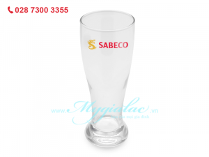 Ly Thủy Tinh Luminarc Brasserie 425ML In Logo Sabeco