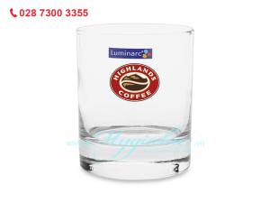 Ly Thủy Tinh Thấp Luminarc Islander 300ml In Logo Highland Coffee