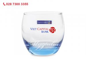 Ly Thủy Tinh Thấp Luminarc Salto Ice Blue 320ml In Logo Vietcapital Bank