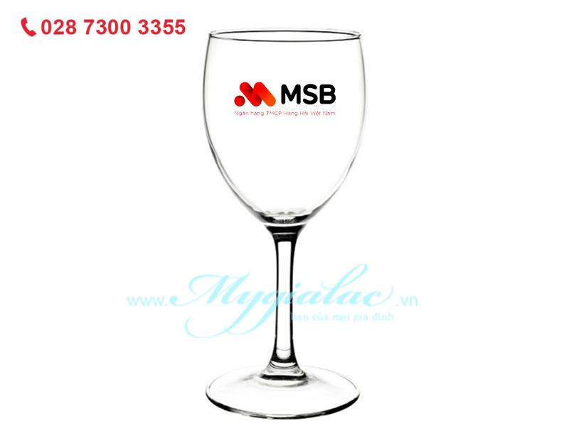 Quà tặng 8/3 Ly Rượu Thủy Tinh Luminarc Savoie 140ml In Logo Ngân Hàng MSB