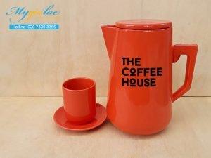 Bình Trà Sứ 2L In Logo The Coffee House