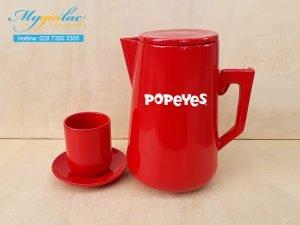 Bình Trà Sứ 2L In Logo The PoPeYes