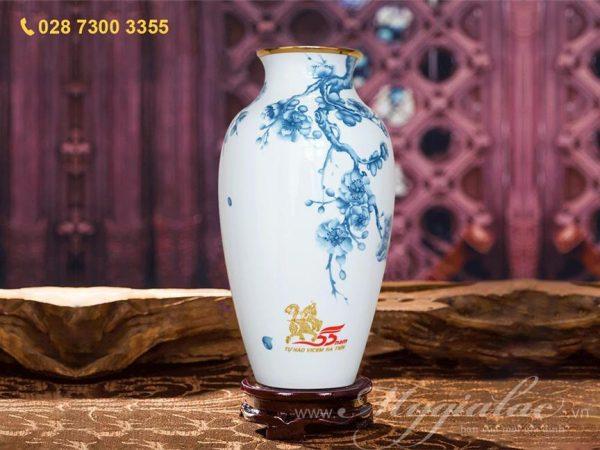 Bình Hoa In Logo Công Ty Vicem Hà Tiên