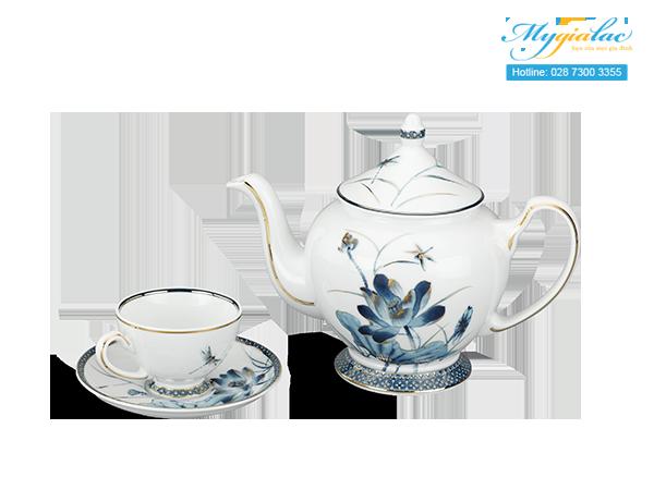 Bộ trà Hoàng Cung Sen Vàng 0.8L