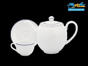 Bộ trà (Bộ 6 tách/dĩa) Camellia Chỉ Xanh Dương 1.1L-1