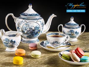 Bộ trà Hoàng Cung Hồn Việt Vàng 1.3L