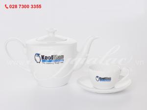 Bộ ấm trà Dasy in logo Công Ty TNHH KoolMan VietNam