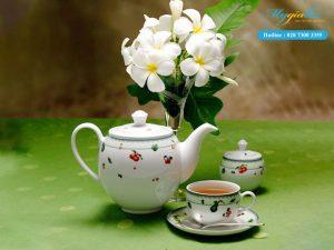 Bộ trà (Bộ 6 tách/dĩa) Camellia Quả Ngọt 1.1L-1