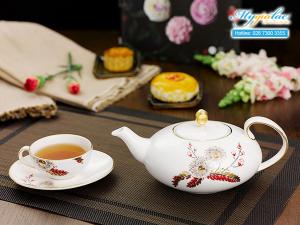 Bộ trà elip Anna Thiên Kim 0.47L