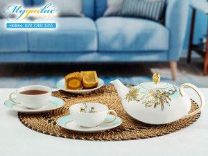 Bộ trà elip Anna An Nhiên 0.47L 1