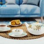 Bộ trà elip Anna An Nhiên (Minh Nguyệt) 0.47L