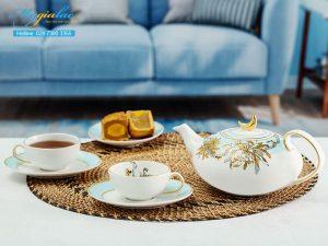 Bộ trà elip Anna An Nhiên (Minh Nguyệt) 0.47L 1