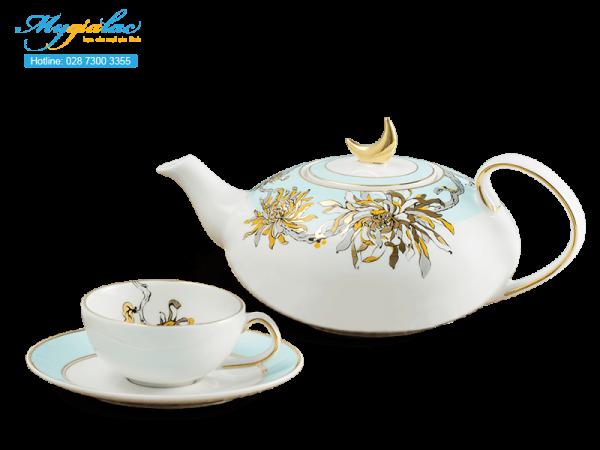 Bộ trà elip Anna An Nhiên (Minh Nguyệt) 0.47L-3