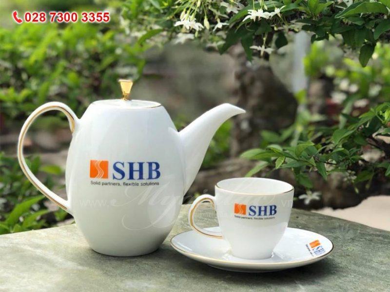 Bộ Trà In Logo Ngân Hàng SHB