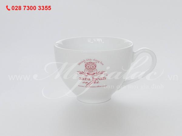 Tách Cappuccino in logo ZARA BEAN COFFEE