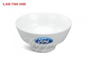 Chén Cơm Loa Kèn Trắng In Logo Ford
