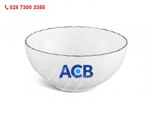 Chén Cơm Ngọc Biển Chỉ Bạch Kim In Logo Ngân Hàng ACB