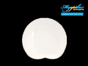 Dĩa ăn sáng Ngọc Biển Chỉ Bạch Kim 25 x 22cm
