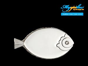Dĩa con cá Ngọc Biển Chỉ Bạch Kim 37 x 20.5cm