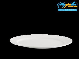 Dĩa oval Dòng Nhà Hàng Jasmine Lys Trắng Ngà 25cm