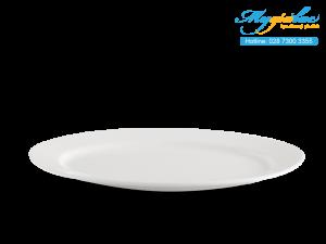 Dĩa oval Dòng Nhà Hàng Jasmine Lys Trắng Ngà 28cm