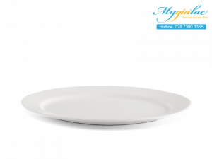 Dĩa oval Dòng Nhà Hàng Jasmine Lys Trắng Ngà 32cm
